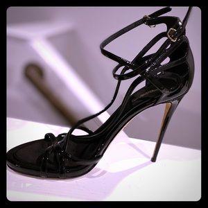 Dolce & Gabbana strap patent leather stilettos.